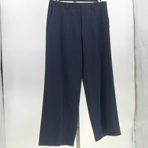 Coldwater Creek willow wide leg trouser pants navy